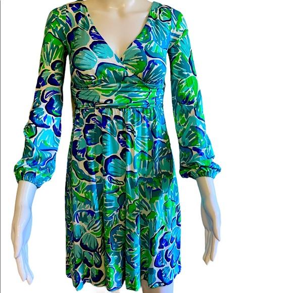 Lilly Pulitzer Dress Agate Green Lazy River  XXS